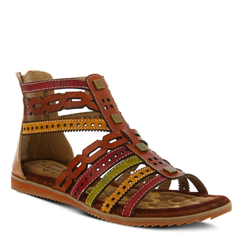 Spring Step Women's Anjula Sandals (Camel Multi Leather)