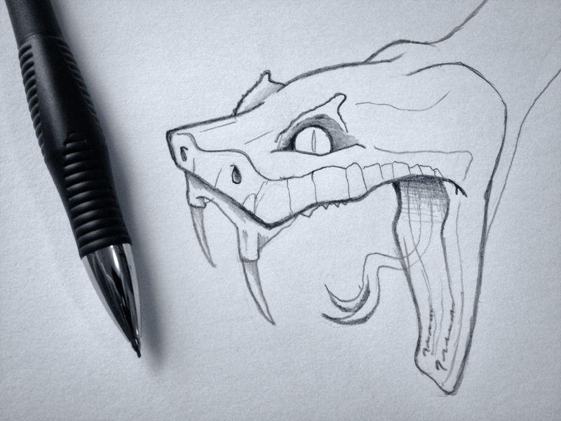 11+ Best Snake head tattoo drawing image HD
