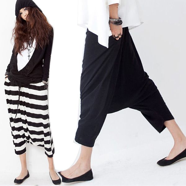Find More Pants & Capris Information about Women Low Crotch Haroun Harem Pants Cropped Baggy Hip hop Striped Trousers CY0719 Freeshipping Dropshipping,High Quality trouser pants for women,China trousers jeans Suppliers, Cheap trouser buttons from Froomer Show on Aliexpress.com