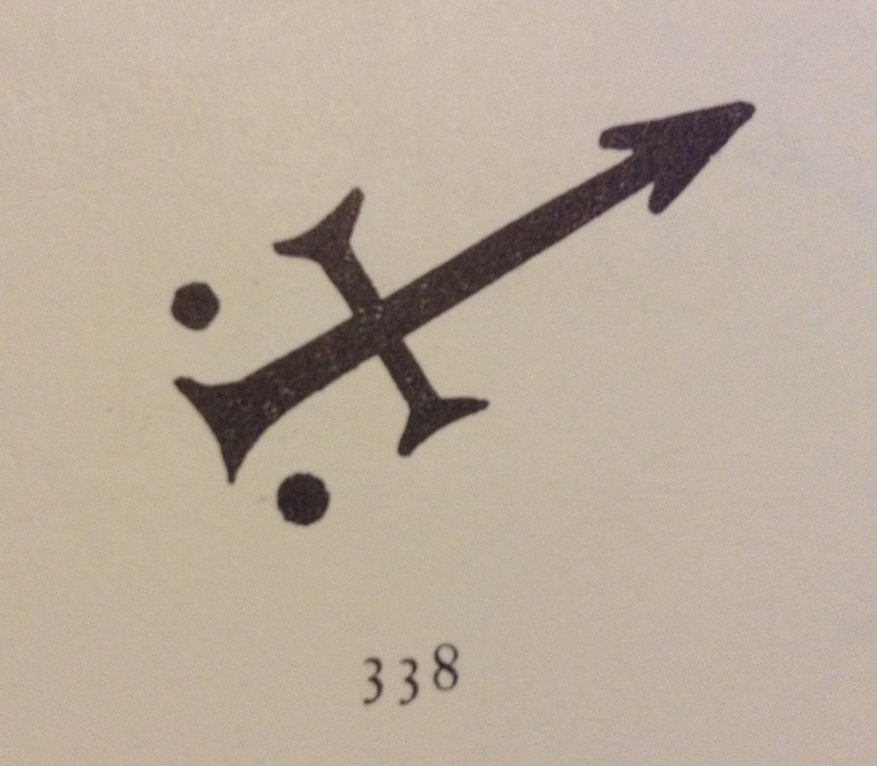 Alchemy Symbol For Iron Based On The Symbol For The God Mars