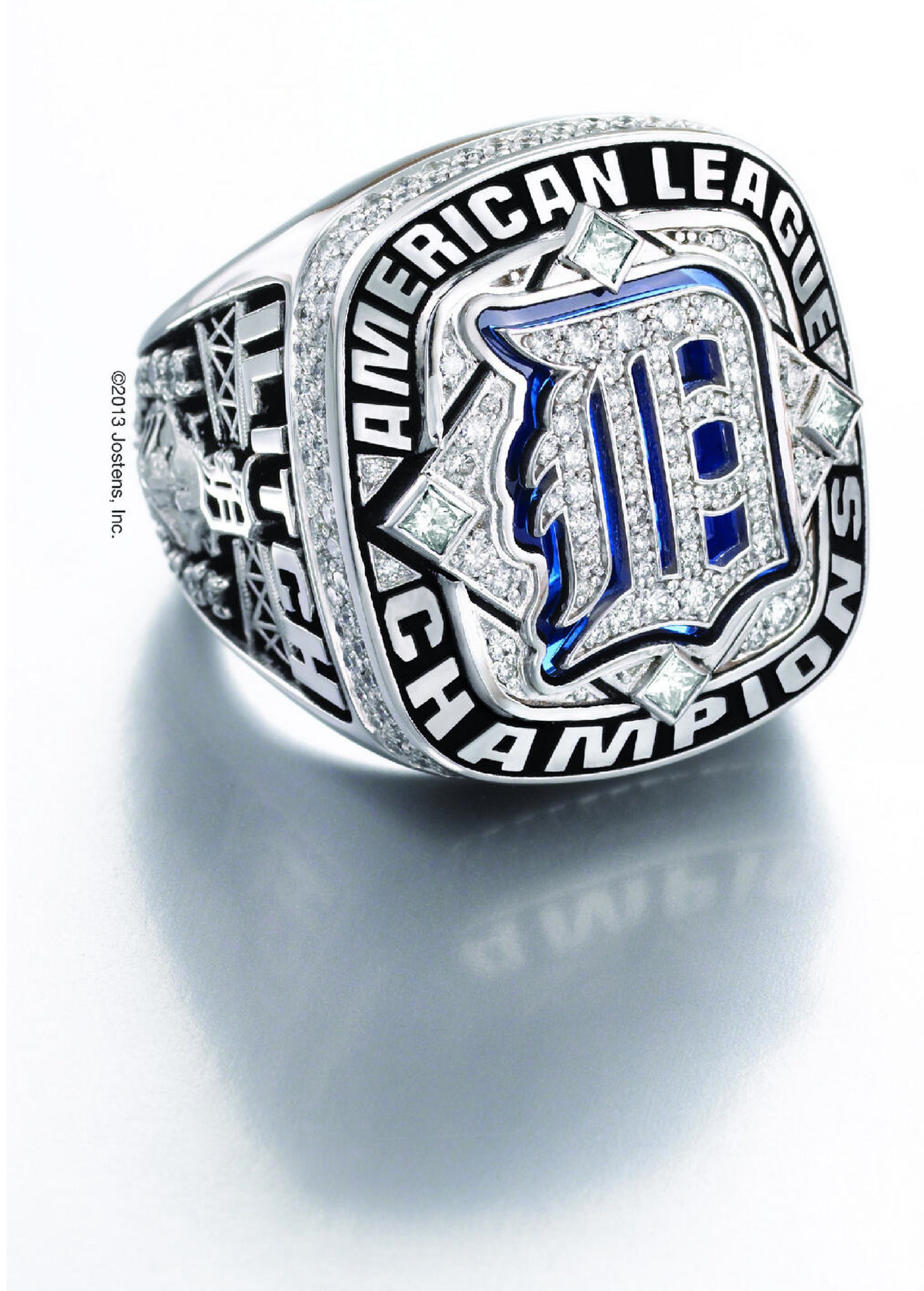 ring detroit tigers mlb rings american sport pin championship league