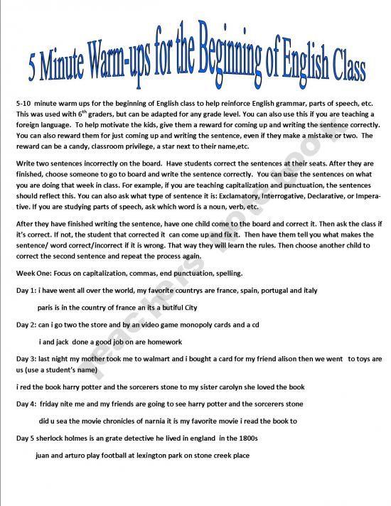 5th class english book