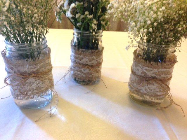 Mason Jar Wrap, Burlap U0026 Lace Mason Jar Decoration, Choose Size And Number  Of Wraps, Wedding, Shower, Party Decoration