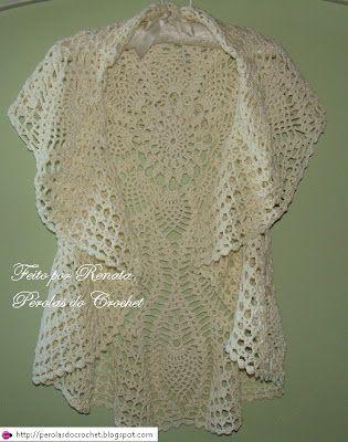 Circular Crochet Jacket - Free Crochet Diagram - (perolasdocrochet ...