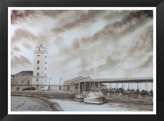 Low Lights, North Shields. Painted in watercolour, by the artist, Sharon Douglas. www.2012artblog@blogspot.co.uk