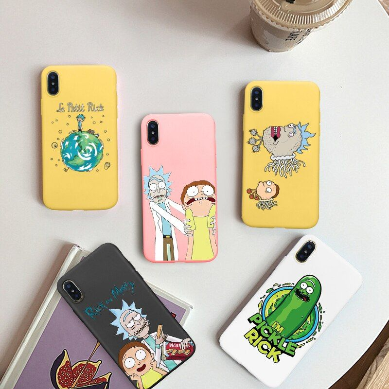 Gykz rick morty pickle cute phone case for iphone 7 xs max