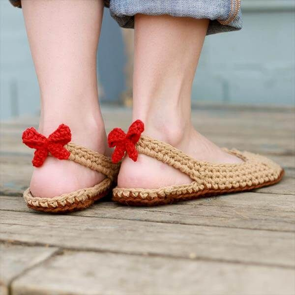 Photo of Crochet Slipper Pattern with Bow