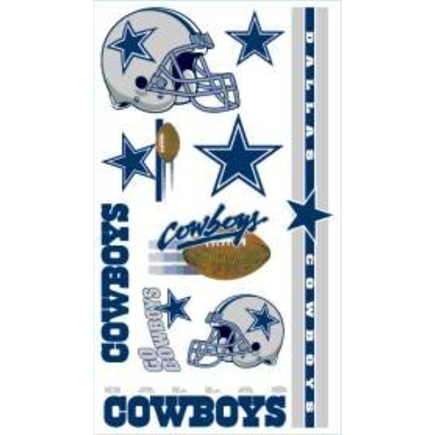 Dallas cowboys temporary tattoos easily removed with