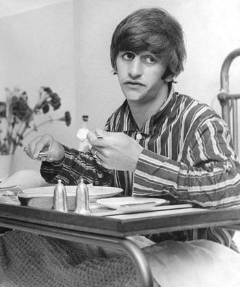 In 1964 Ringo has his tonsils removed. A session drummer by the name of Jimmy Nicol stepped in for him while the Beatles toured. S)