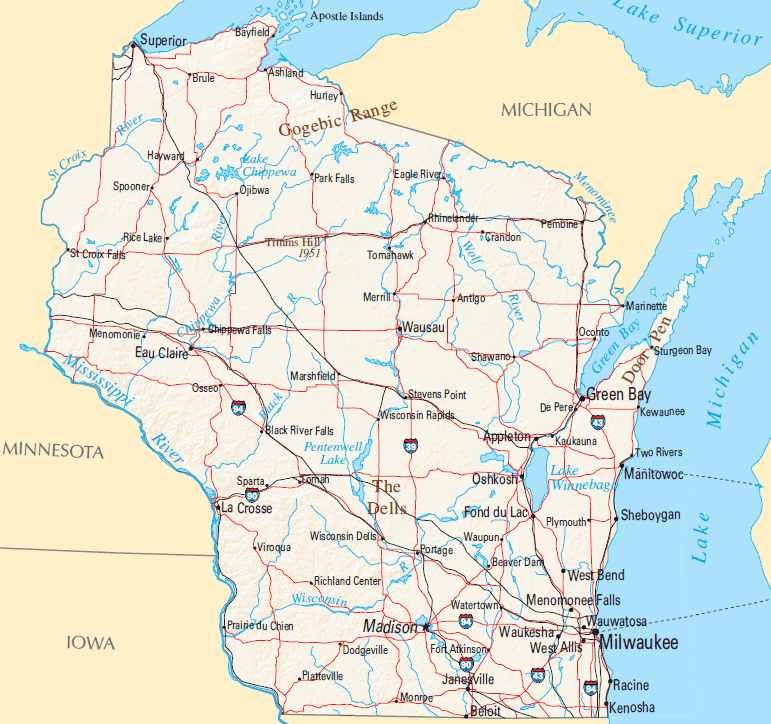 Wisconsin Road Map Printable Printable Maps - Wi road map