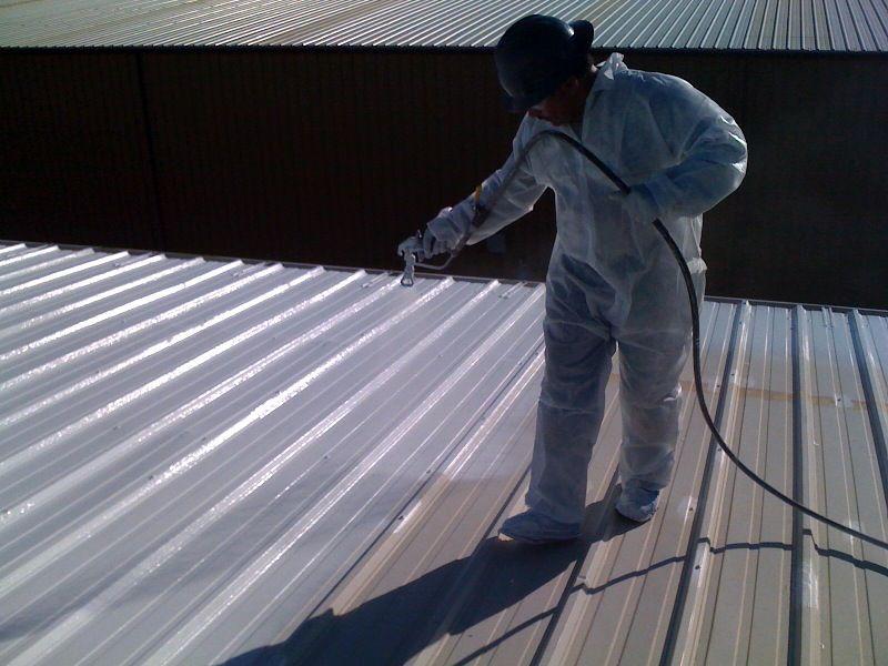 Applying Coating 3 Metal Roof How To Apply Metal
