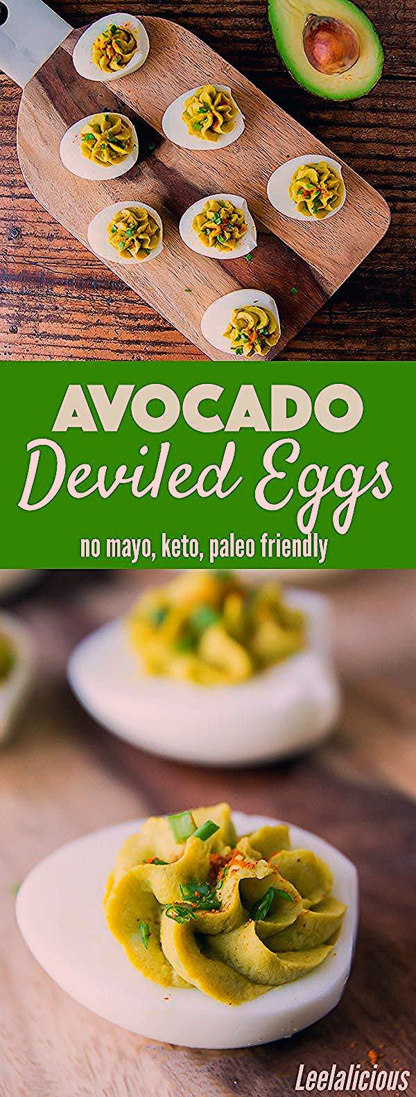 These healthy avocado deviled eggs without mayo are made with just a handful of wholesome ingredien