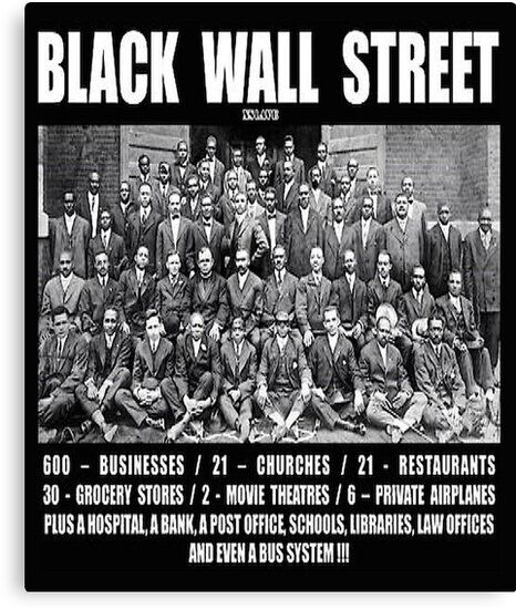 Photo of Black Wall Street Canvas Print