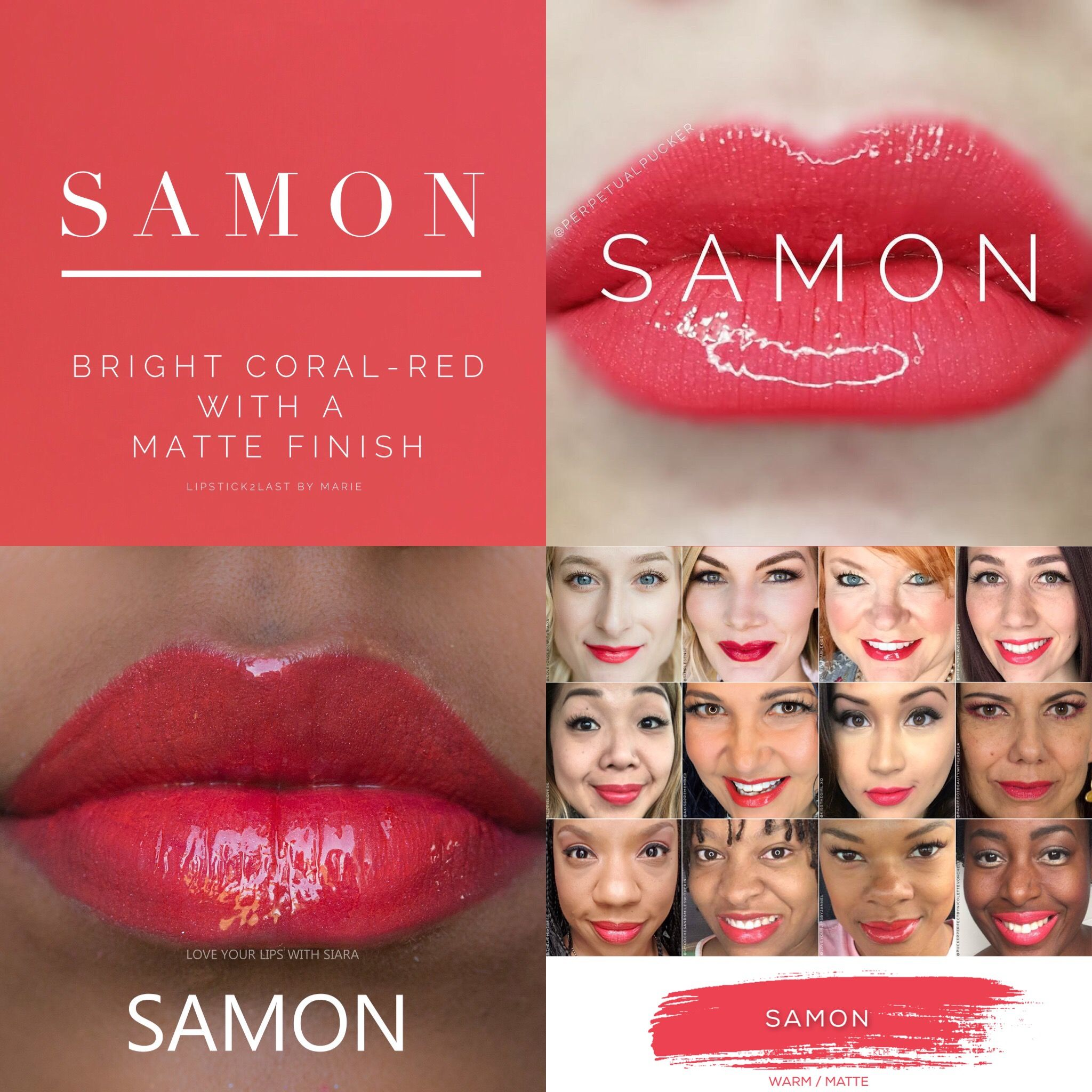 Samon LipSense is lip color that lasts 4-18 hours. It won't smudge, budge, feather, or kiss-off!