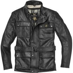 Photo of Black-Cafe London Madrid motorcycle leather jacket black 48