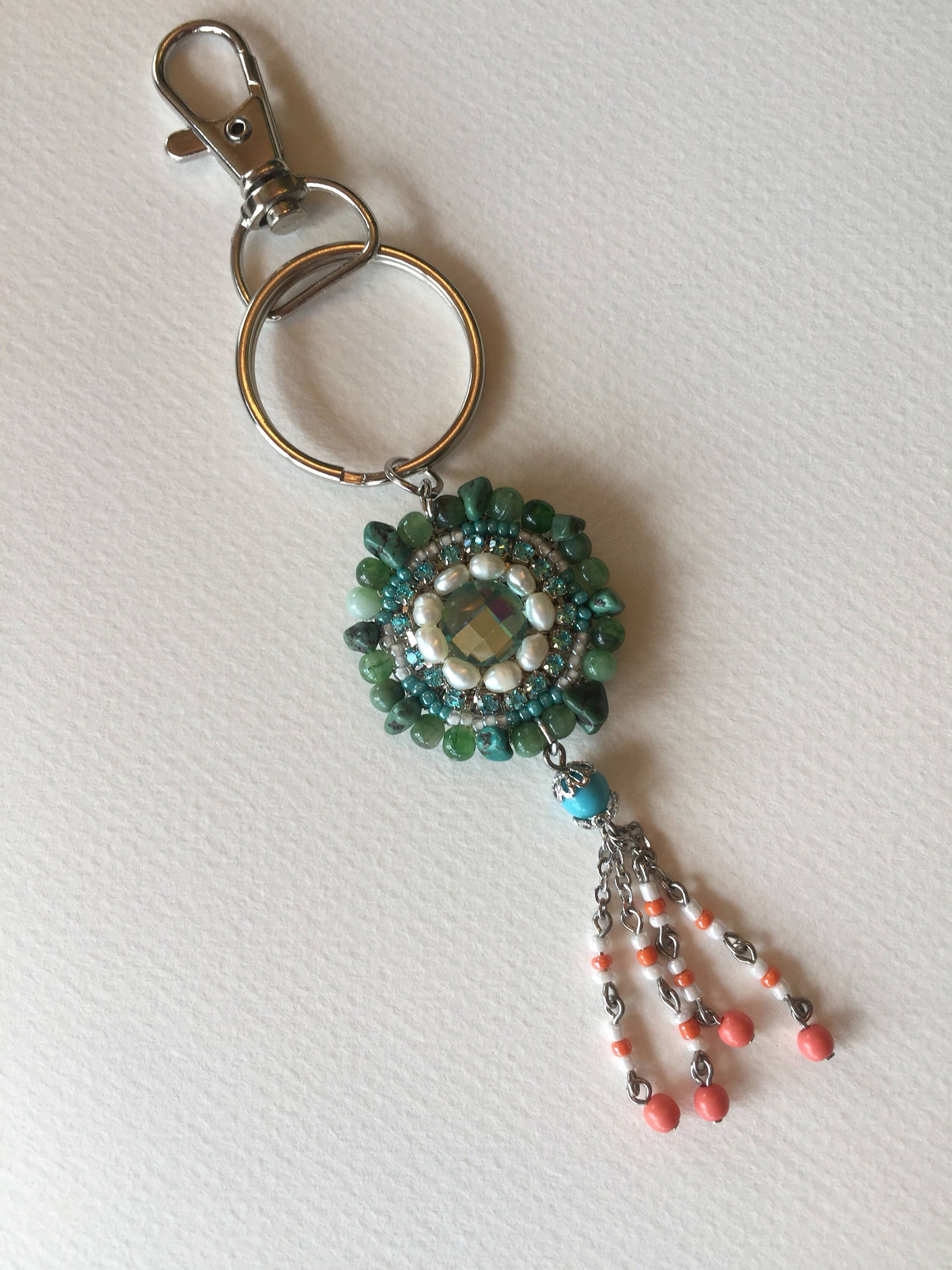 key mondays glass orb something make rings diy keychain chain
