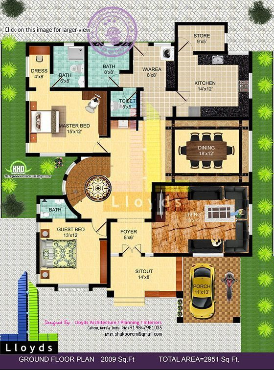 Kerala Home Design And Floor Plans: Bungalow Floor Plans, Kerala House Design, Floor Plans