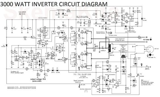 a8aab4dd7bd1b3bbddbc04e9e5c46673 3000 watt inverter circuit diagram electronics pinterest  at soozxer.org