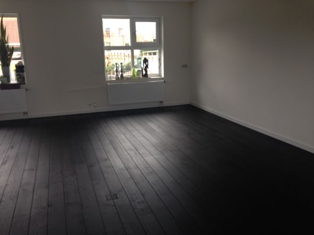Woonkamer - Inspiratie - Bestaande eiken vloer geschuurd en zwart ...