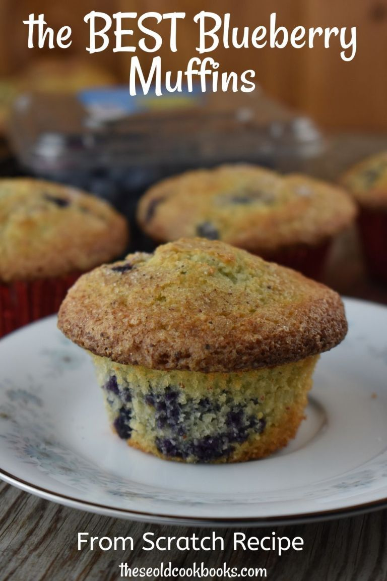 Blueberry Muffins from Scratch Recipe - These Old