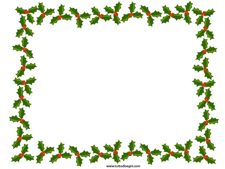 Cornici Natalizie Per Foto.Cornicetta Di Natale Con Agrifoglio Tutto Disegni
