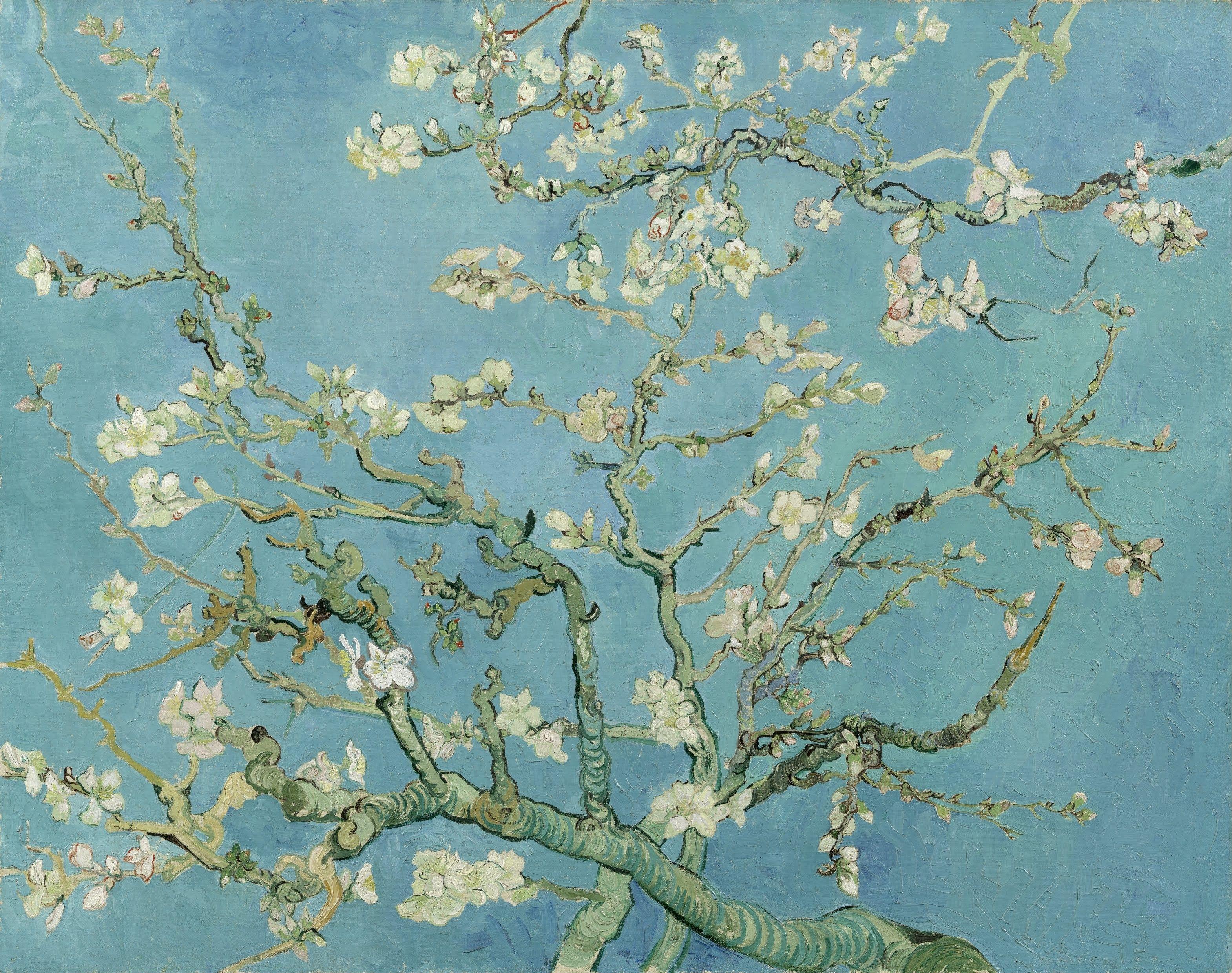 Red Almond Blossom Tree Vincent Van Gogh Art Reproduction DecorArts
