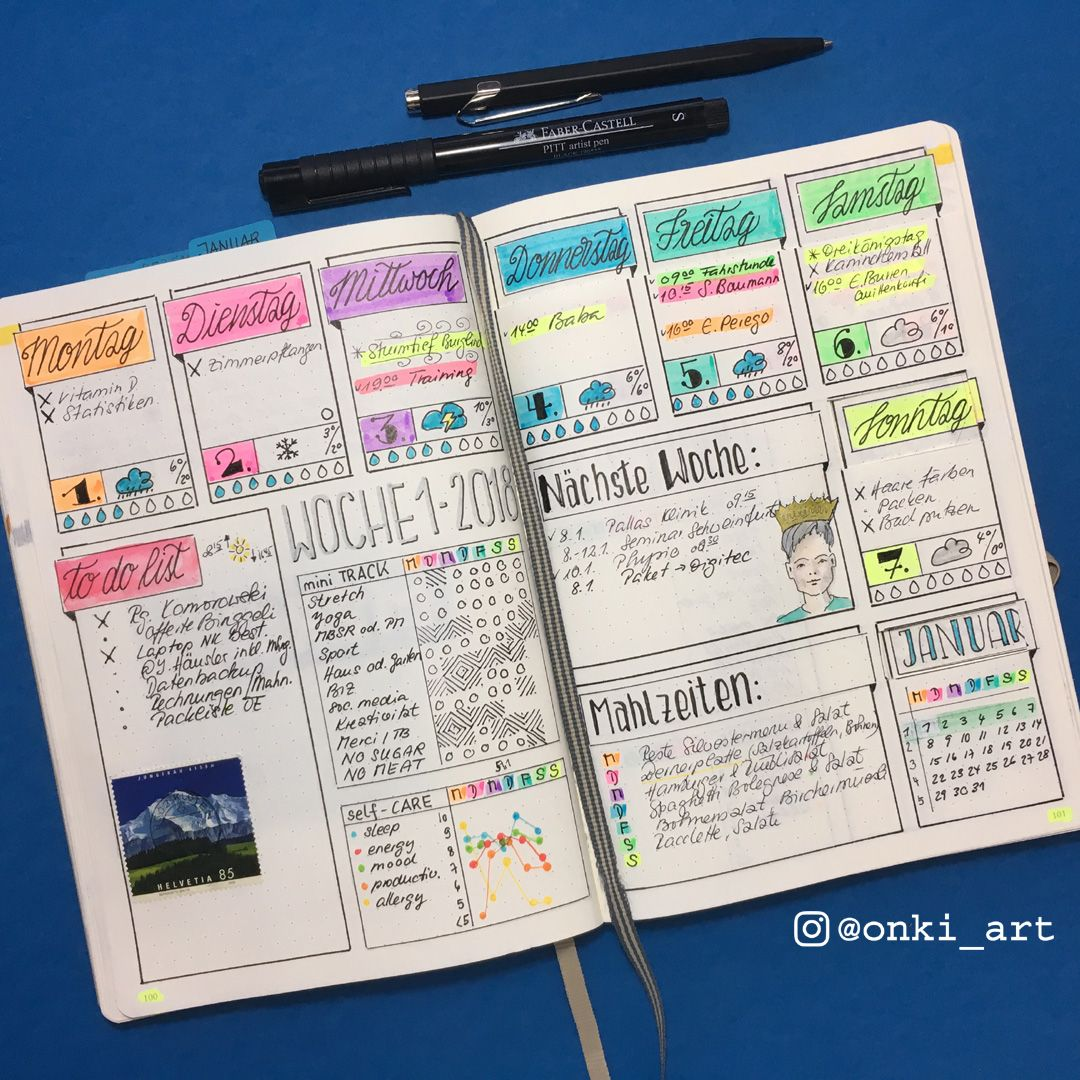2018 weekly 01 filled out #watertrackerbulletjournal
