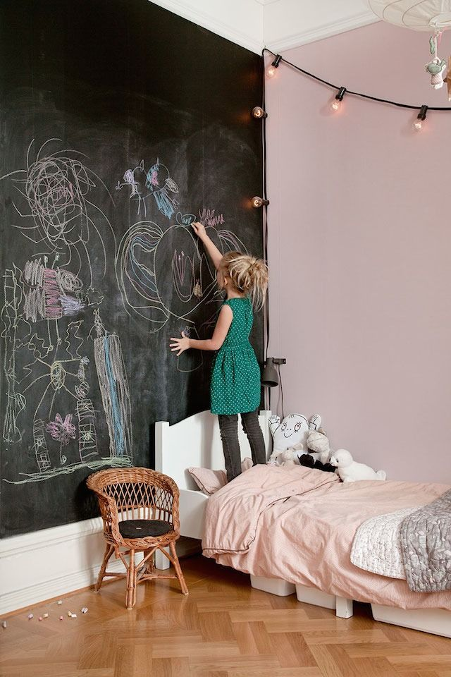 A Chalkboard Wall In A Kids Room Kid Room Decor Kids Interior Kids Room Design