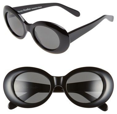 ACNE Studios 'Mustang' 49mm Oval Sunglasses