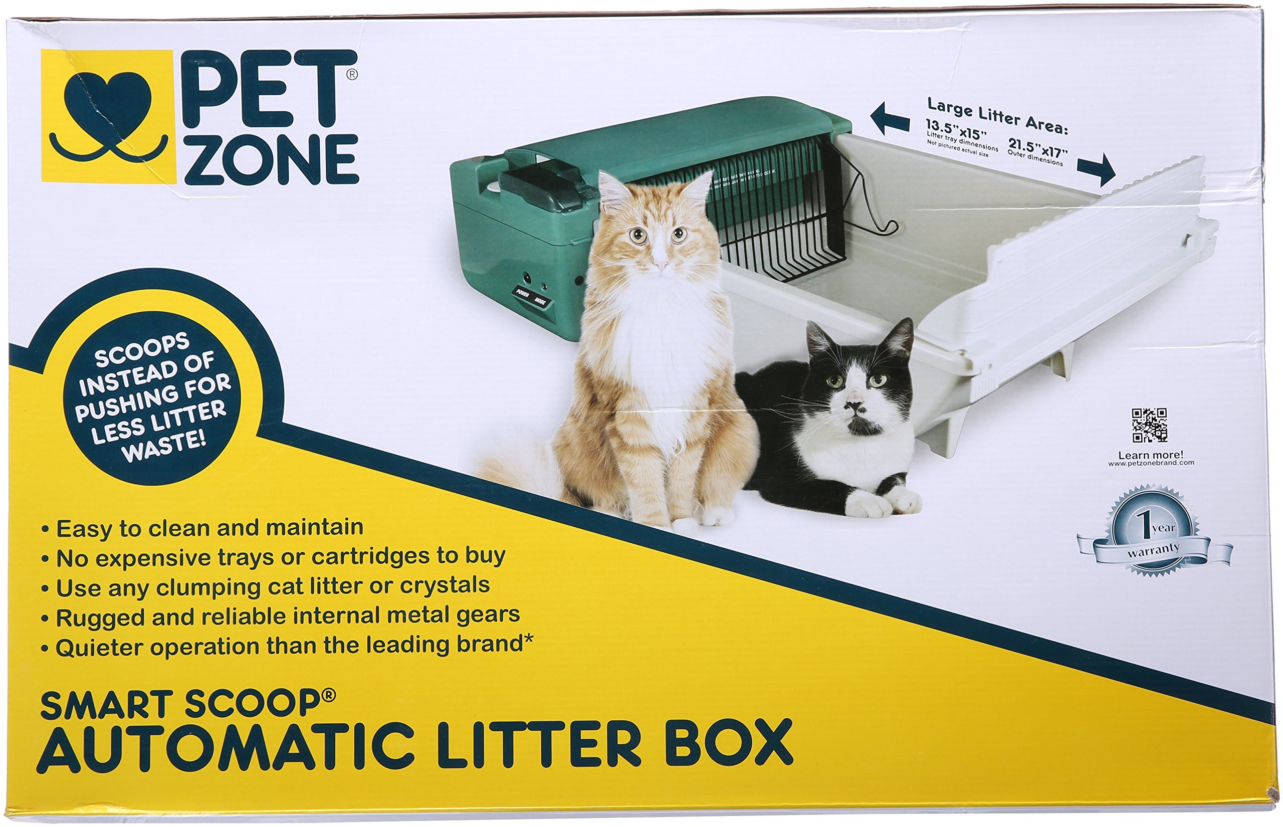 Pet Zone Smart Scoop Automatic Cat Litter Box *** See this