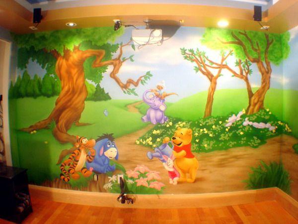 pooh wall murals Winnie Room Wall Murals Creating Winnie the Pooh