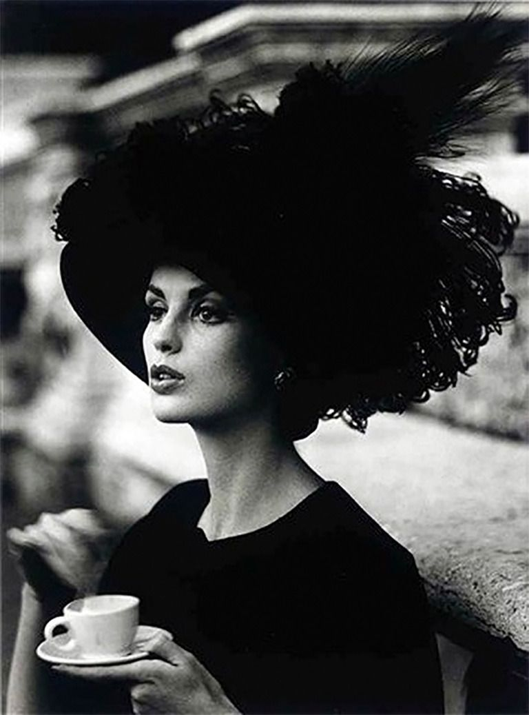 Dorothy + Feathered Hat, Rome | From a unique collection of figurative photography at https://www.1stdibs.com/art/photography/figurative-photography/