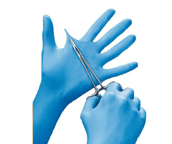 100 X Comfortable Rubber Disposable Mechanic Nitrile Gloves Blue Medical Exam AB