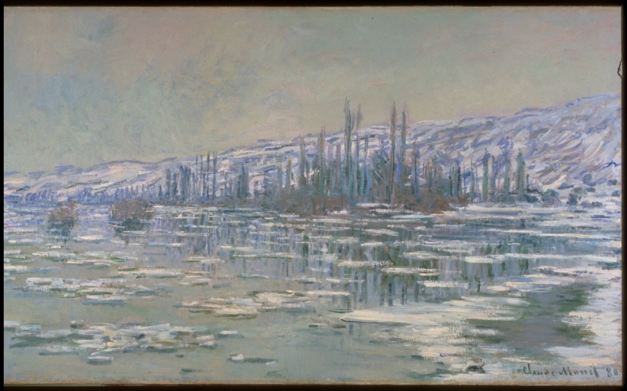 """Claude Monet (French, 1840–1926)., """"The Break-up of the Ice"""", 1880. Collection University of Michigan Museum of Art."""