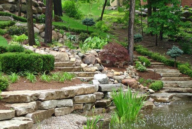 Really Nice Hillside......landscape Design Michigan Landscaping Services