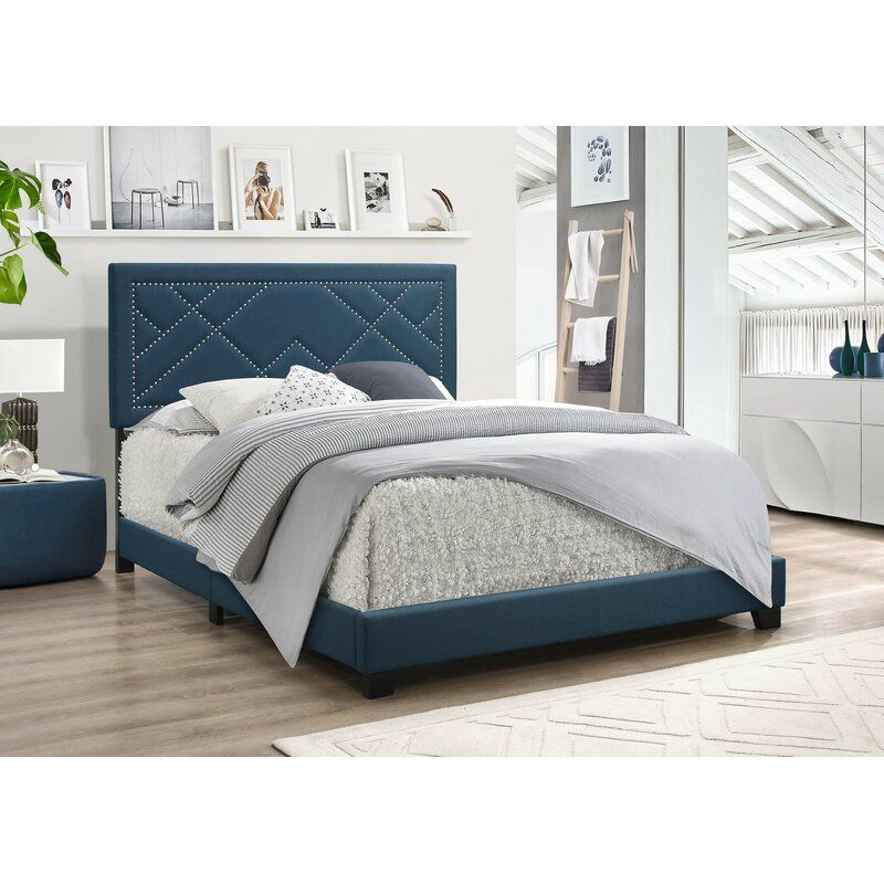 Grubb Upholstered Standard Bed In 2020 With Images Fabric