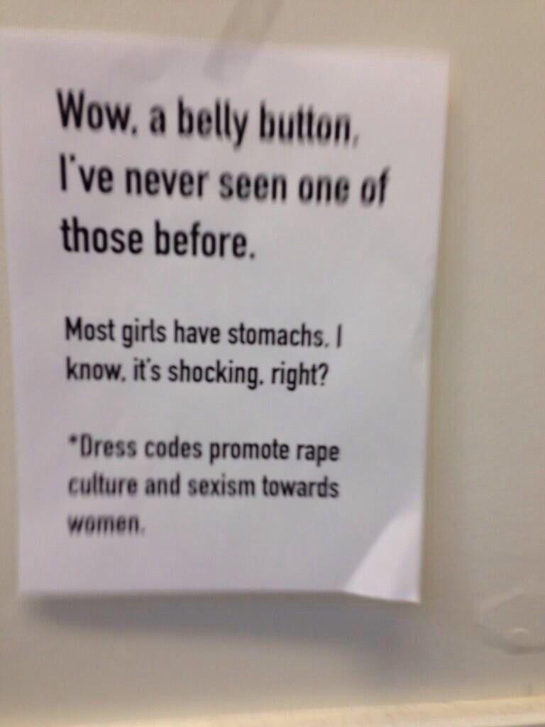 protest fuck yeah sexism feminism rape culture dress code school  a8ab2ef1b775efc9568964fc2c29c1ff jpg