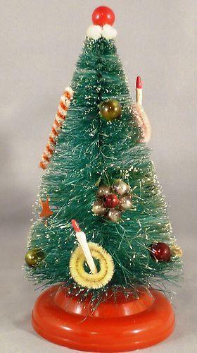1960\u0027s Vintage Bottle Brush Christmas Tree 6\