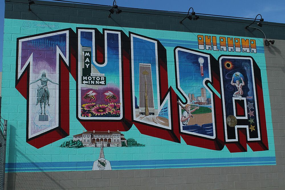 Local artists have helped transform many Tulsaarea