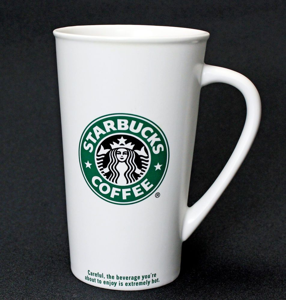 Starbucks 2007 Coffee Mug 20 oz Venti To Go Green Black