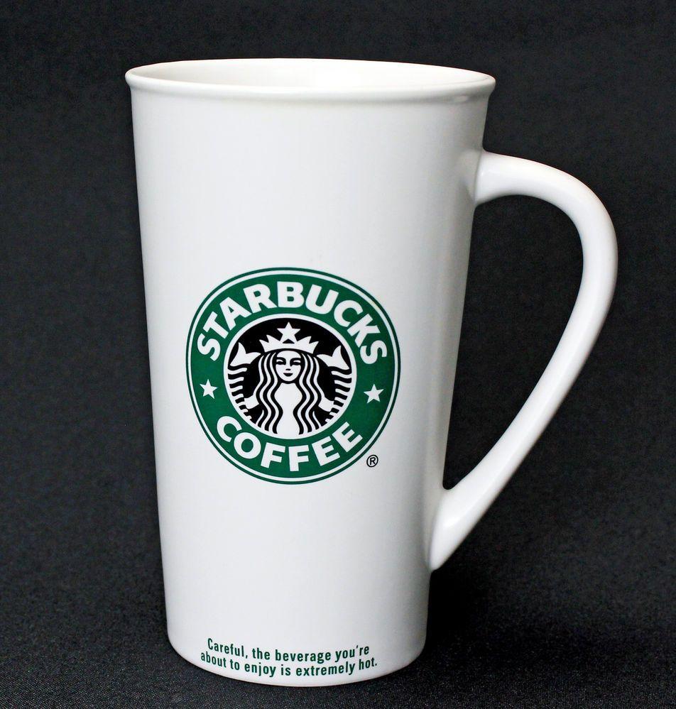 Starbucks 2007 Coffee Mug 20 Oz Venti To Go Green Black