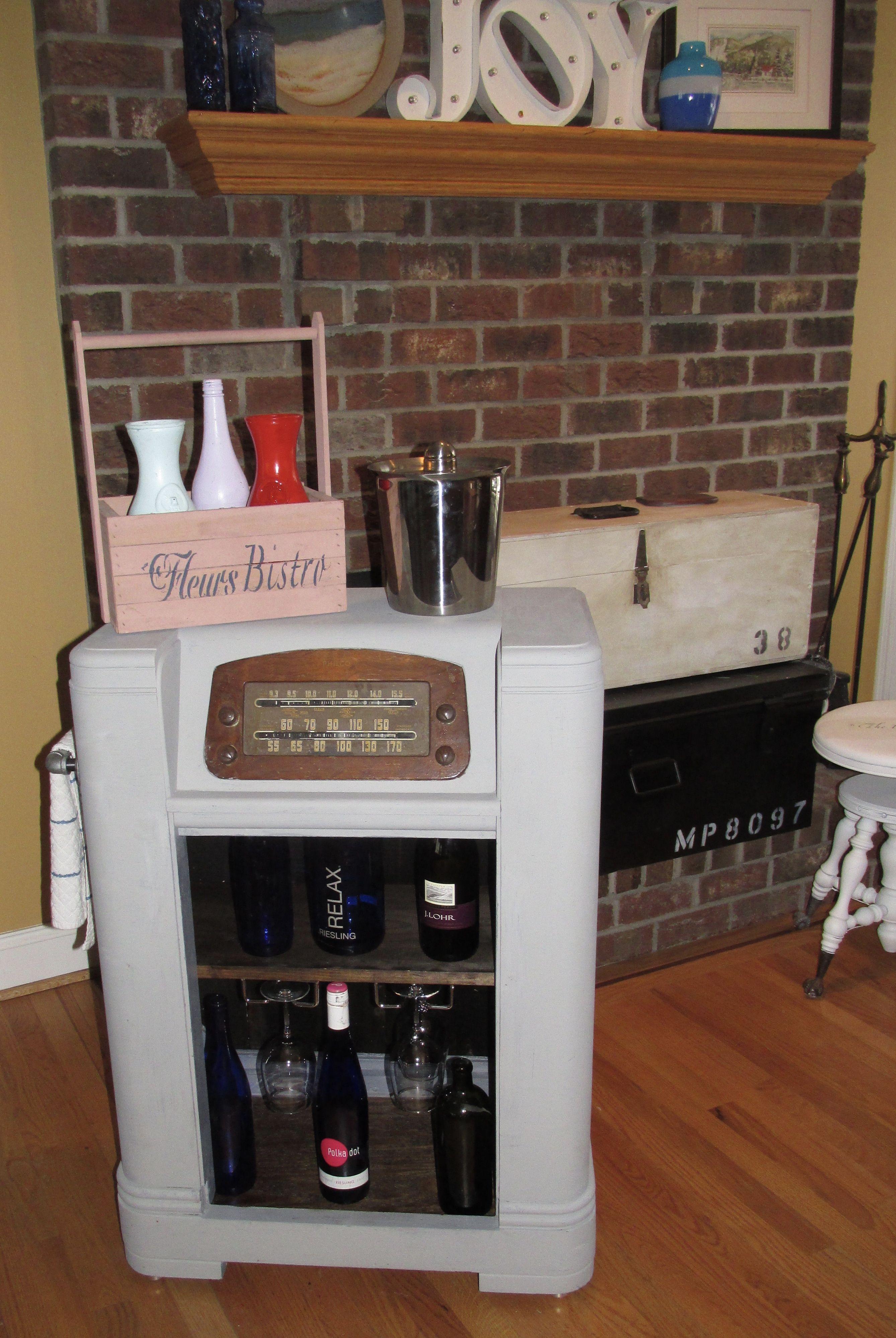 Up Cycled Antique Radio Kitchen Cart Wine Bar Httpstoresshop