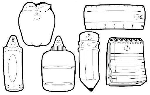 utiles escolares para colorear - Buscar con Google | Dibujos para ...