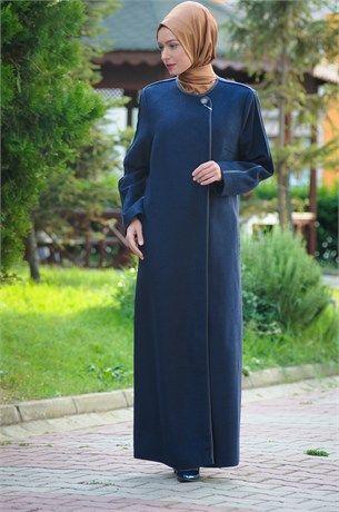 55036 Doque Buyuk Beden Kece Manto Fashion Dresses Nun Dress