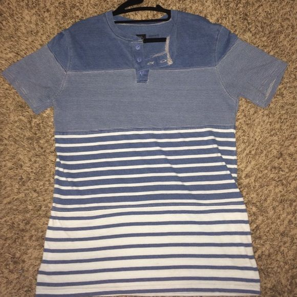 BDG blue and white tshirt Urban Outfitters blue and white striped tshirt Urban Outfitters Tops Tees - Short Sleeve