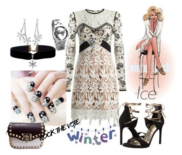 """Icy-Spicy"" by sahelirima on Polyvore featuring self-portrait, Bling Jewelry and Stuart Weitzman"
