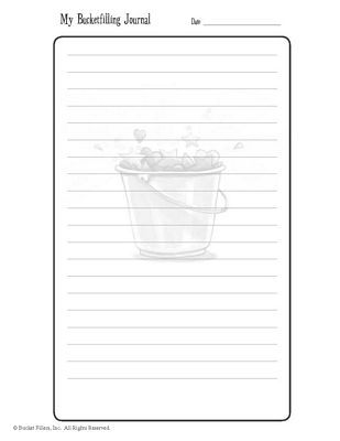 Bucketfilling Journal\ - lined page