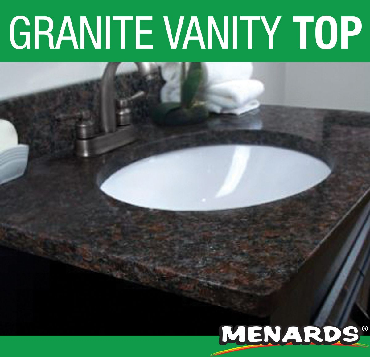 Update While Adding Value To Your Bathroom With This Beautiful Tuscany Maintenance Free Granite Vanity Top Granite Vanity Tops Bathroom Vanity Tops Home Spa