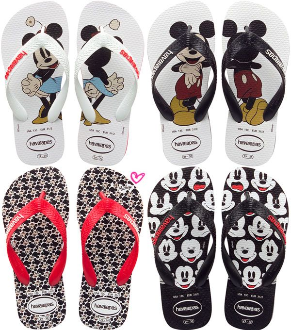 f392a857ab5467 ... are sandals! The Mickey and Minnie designs from our Colab with Disney.  Havaianas do Mickey e da Minnie