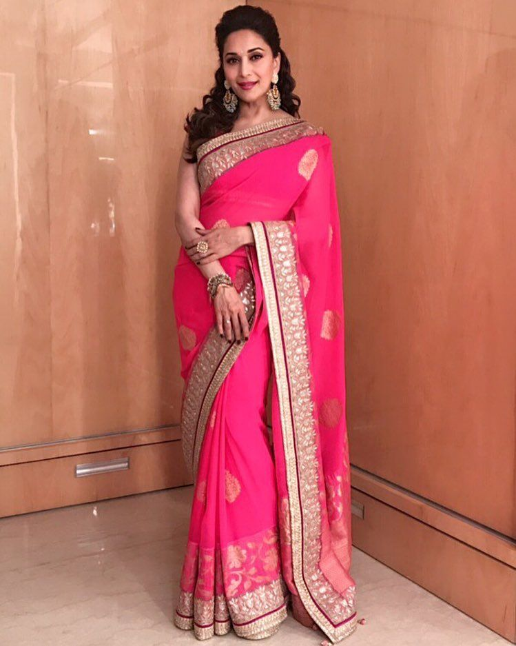 madhuri dixit nene makes our saree look even better at  Umang 2017. Styled by: tanghavri